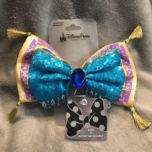NWT Disney Parks Aladdin Interchangeable Bow